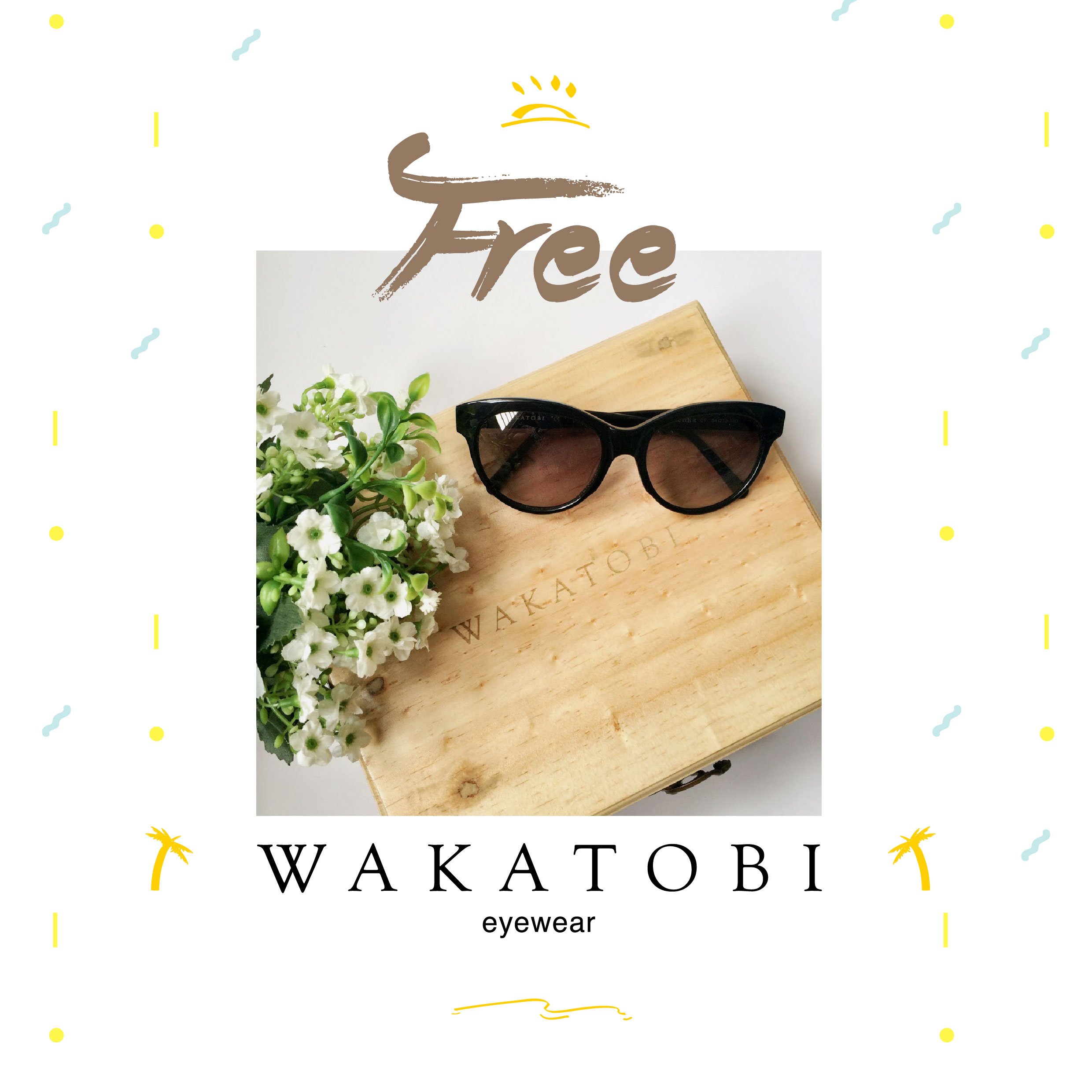 Get FREE a set of Wakatobi glasses for Couple with Wooden Box!